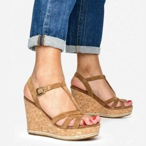 UGG Melissa Chestnut Brown Cork Wedge Sandal
